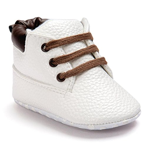 Voberry® Baby Boy's Girl's Warm Snow Short Boots First Walkers Shoes Sneaker (0~6Month, white)