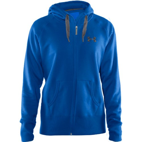 Under Armour Women'S Ua Light Charged Cotton Storm Full Zip Blue X-Small