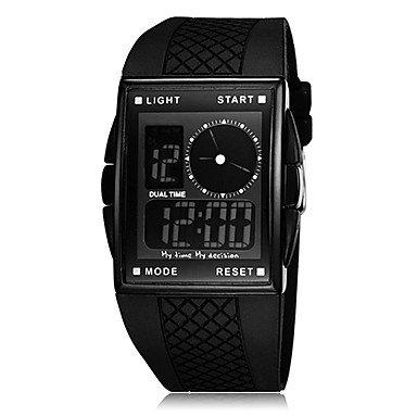 Men's Watch Sport Analog-Digital Dial Multi-Functional , Black