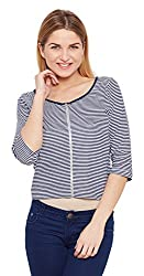Meee Women's Wrap Top (MEEE-005014_Blue_X-Large)
