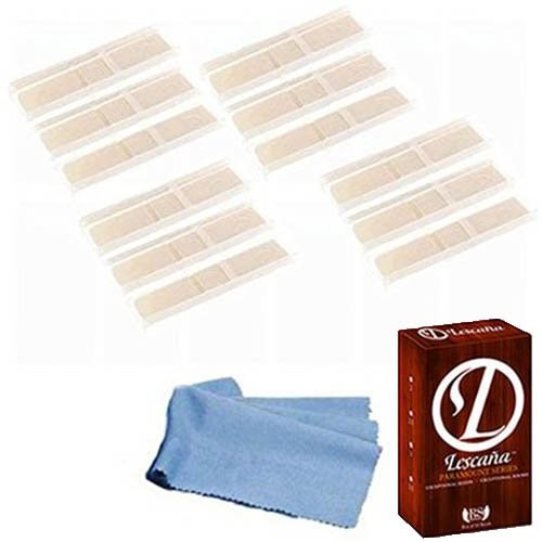 lescana-paramount-series-bass-clarinet-reeds-12-pack-size-2-with-bonus-bass-clarinet-cleaning-cloth
