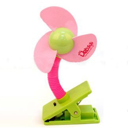 Generic Pink Clip-On Mini Baby Safety Stroller Fan Great For Outdoor,Beach, Pool,Camping Easy To Carry front-223055