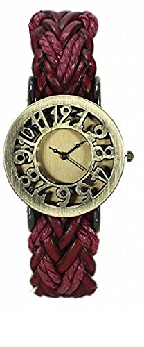 TARSA Brown Analog Gold Dial Women's Watch with Quilling Ear Ring set