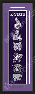 Heritage Banner Of Kansas State Wildcats With Team Color Double Matting-Framed... by Art and More, Davenport, IA