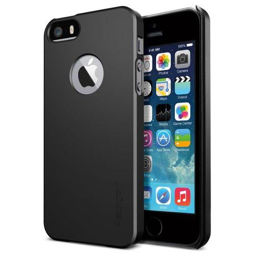 SPIGEN SGP 国内正規品SPIGEN SGP iPhone 5s / 5 ケース ウルトラ・フィットA [スムース・ブラック] ECO-Friendly Packaging SGP10532