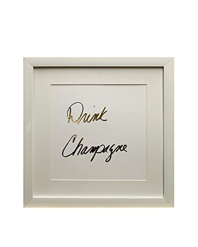 Star Creations Gold Foil Inspirational Series Drink Champagne, 18 x 18