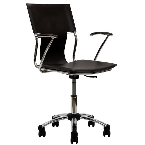 LexMod Studio Office Chair in Brown Vinyl