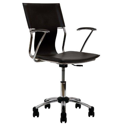 LexMod Studio Office Chair in Brown Vinyl