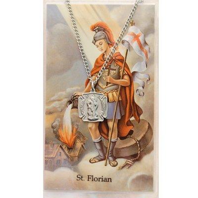 Pewter St. Florian Medal & 18
