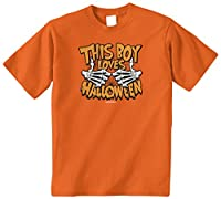 Threadrock Big Boys' This Boy Loves Halloween Youth T-Shirt