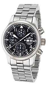 Fortis Men's 657.10.11 M B42 Flieger Swiss Automatic Steel Chronograph Alarm Date Diving Watch