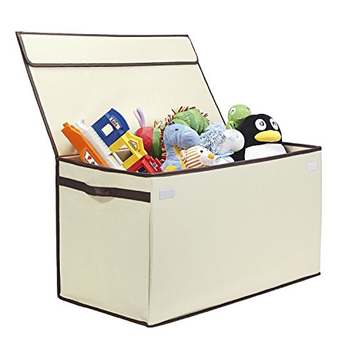 G.U.S. Kids Collapsible Toy Chest with Flip-Top Lid, Large, Ivory (Winnie The Pooh Pack N Play compare prices)