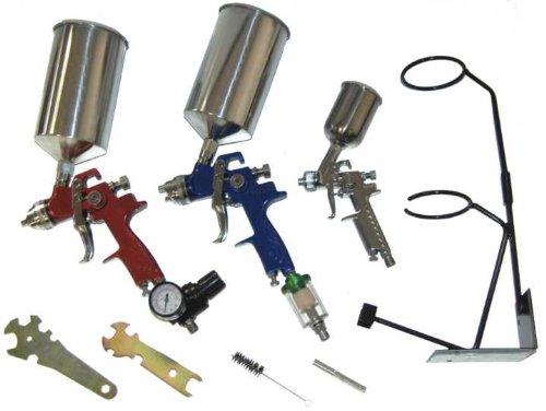 Best price hvlp spray gun set auto paint primer topcoat for Best automotive paint gun