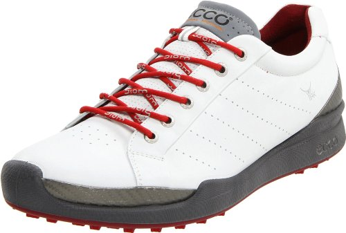 Ecco 2012 Men's Biom Hybrid Golf Shoes - White/Brick - UK 8 - 8.5 EU 42