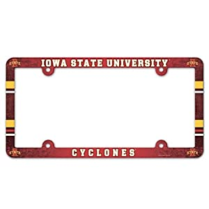 Buy Iowa State Cyclones Official NCAA 12x6 Plastic License Plate Frame by WinCraft
