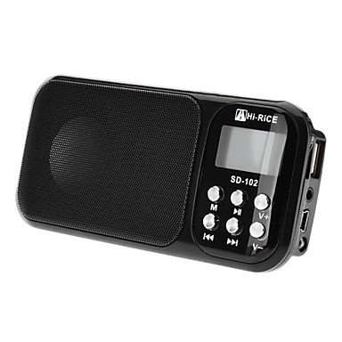 Zclhi-Rice Sd-102 Portable Digital Media Speaker With Clock And Fm Function (3 Colors)Sd-102 , White