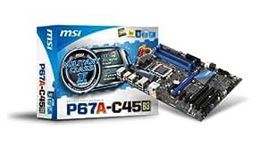 MSI P67A-C45 (B3) Carte mère ATX Intel P67 1155 Socket Compatible CPU Intel Sandybridge Version B3