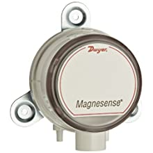 "Dwyer Magnesense Series MS Differential Pressure Transmitter, Positive Only Unit, 4-20 mA, High Range 1, 2, 5""WC & 250, 500, 1250 Pa, Wall Mount"