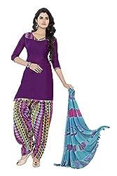 Minu Suits Cotton Unstiched Dress Material New Purple