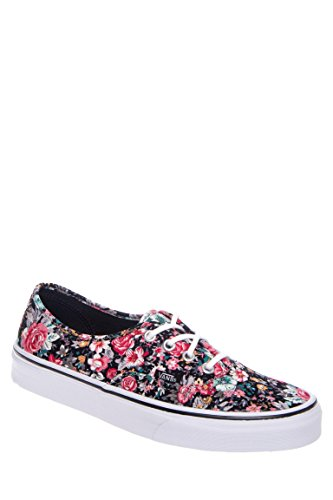 Authentic Floral Print Low Top Canvas Sneaker