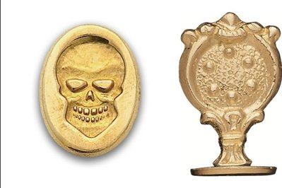 Brass Wax Seal Stamp -Skull