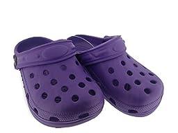 C-Clog Girls Rubber Clogs Size 1 / 2 Purple