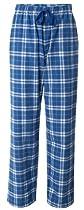 Fashion Flannel Pajama Pant, Royal/Silver, Large