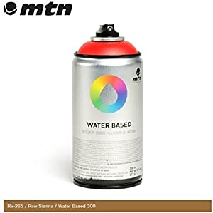 mtn raw sienna rv 265 300ml water based spray paint. Black Bedroom Furniture Sets. Home Design Ideas