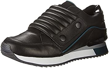 Aldo Men's Ederani Runner with Wide Snap Strap, Black Leather, 10 D US
