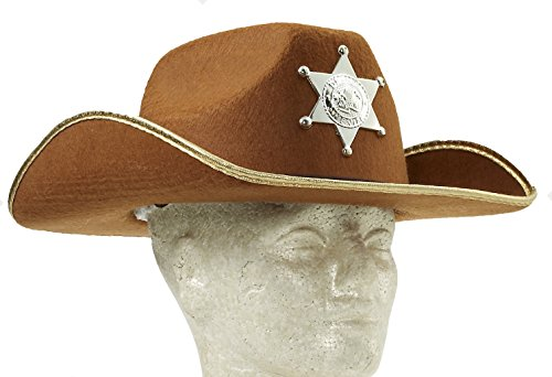 Forum Child Cowboy Hat with Badge, Brown - 1