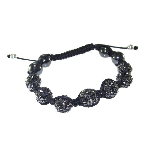 Black Pave Crystal Scarlet Samples Shamballa 6.5-9