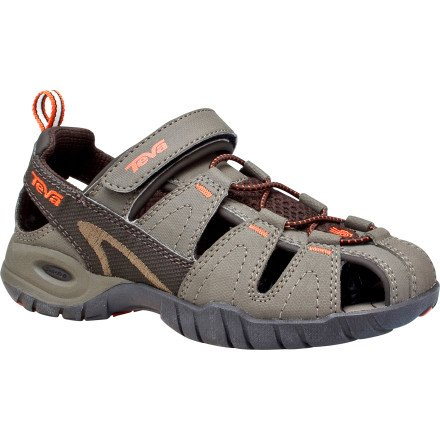 Teva Dozer 3 Closed Toe Sandal (Toddler/Little Kid/Big Kid),Turkish Coffee,6 M US Big Kid