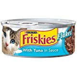 Nestle Purina Petcare Friskies Classic Pate Flaked Tuna for Cats 5.5oz cans - case of 24 Canned Food