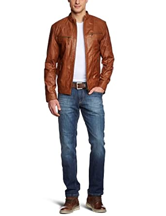 camel active herren jacke 4512 lederjacke gr 48 braun 033 cognac bekleidung. Black Bedroom Furniture Sets. Home Design Ideas