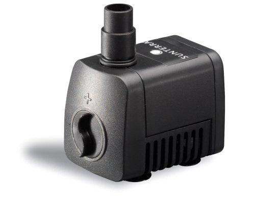 Sunterra 109006 Small Fountain Pump, 75 GPH, Black