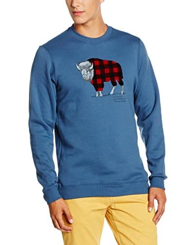 Columbia Sudadera CSC Check The Buffalo Crew Azul Medio