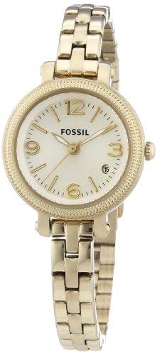 Fossil ES3194 - Reloj analógico de cuarzo para mujer, correa de acero inoxidable color dorado