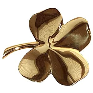 Amazon Com Gerity Brass Four Leaf Clover 24k Gold Plated