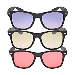 Aye Roof Combo Wayfarer sunglasses (uv protection) (Assorted) Color)