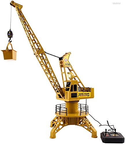 WolVol Wired Remote Control Construction Crane Playset Toy with Light with Lift-up Bucket Activity (Crane Remote compare prices)