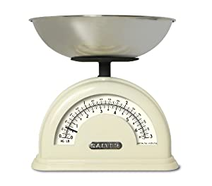 Salter SL1200 Vintage Traditional Kitchen Scale, White