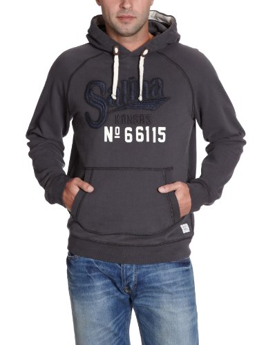 Lee Men's Hoodie Sws - L659Gnog Sweater Black (Faded Black) 48/50