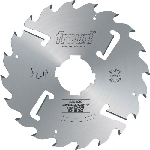 Freud LI16MAC3 120mm with 12+12 Tooth Design Carbide Tipped Adjustable Scoring Blade for Scoring Coating on Double-Sided Laminate Panels