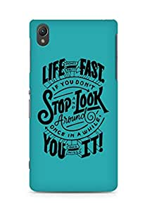 AMEZ life moves pretty fast Back Cover For Sony Xperia Z2