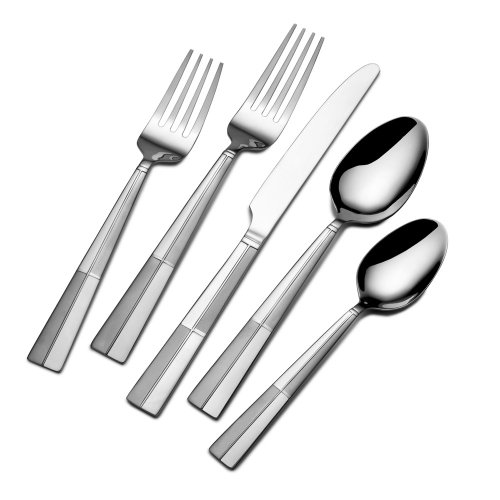 International Silver Arabesque Frost Stainless Steel Flatware, 20-Piece Set, Service for 4 (Kitchen Silverware compare prices)