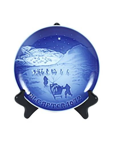 1972 B&G Christmas Plate, Blue
