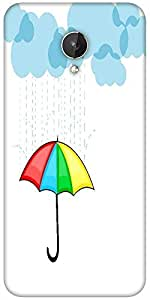Snoogg Abstract Rainy Season Background With Clouds Designer Protective Back Case Cover For Micromax Canvas Spark Q380