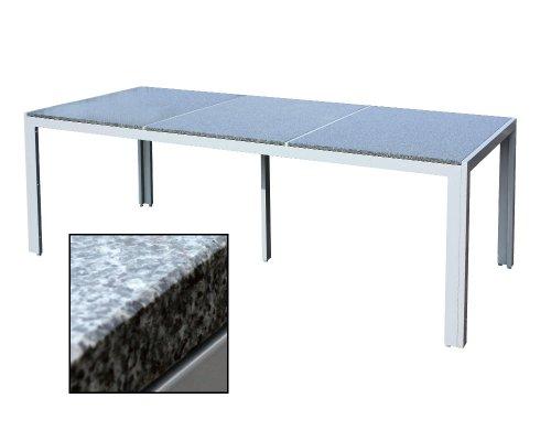 xxl gartenm bel granittisch alu granit tisch. Black Bedroom Furniture Sets. Home Design Ideas