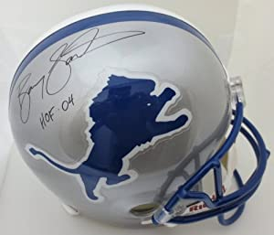 Barry Sanders Autographed Detroit Lions Full Size Signed Football Helmet HOF AAA COA by Powers Collectibles