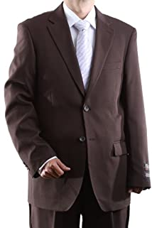 Men's Single Breasted Two Button Brown Dress Suit